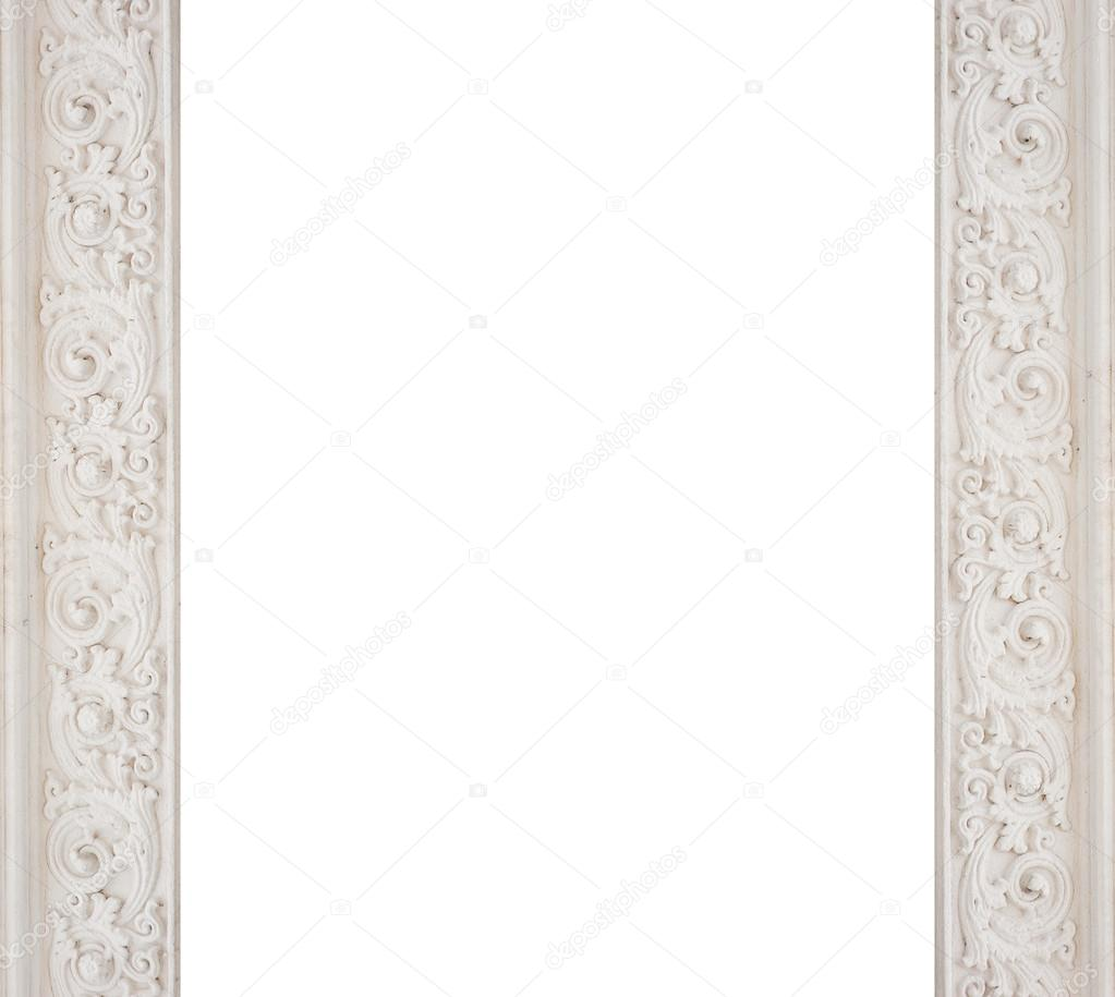 art architectural white frame molding — Stock Photo © timonko #65117297