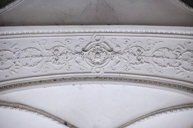 Old molding on the ceiling white