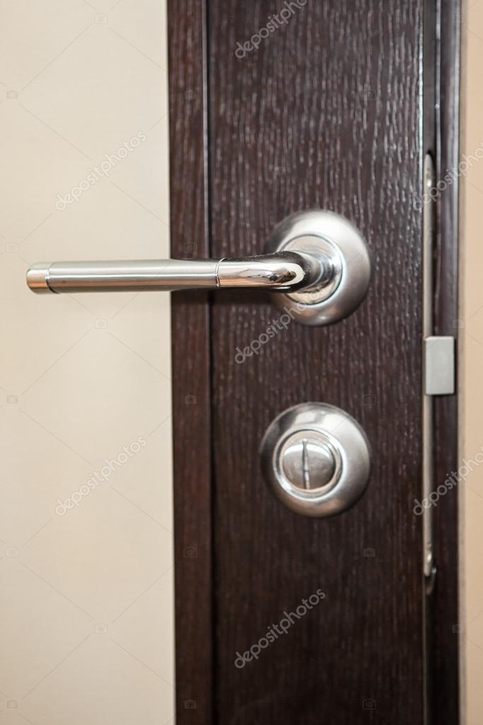 houten deur van de slaapkamer — Stockfoto © Russieseo #116933348
