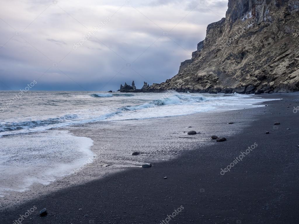 Black Sand Beach Hd Wallpaper Black Sand Beach Iceland Stock Photo C Rc6260 78346596