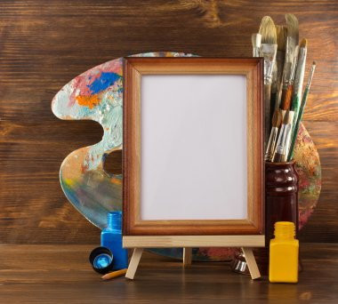 Picture frame and paints