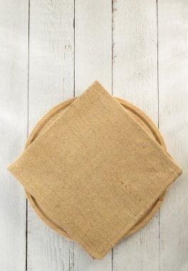 cloth napkin and cutting board