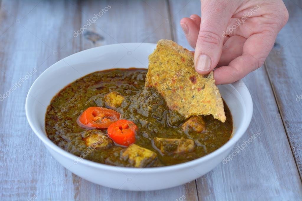 Indische Küche - traditionelle Punjabi Palak Paneer — Stockfoto ...