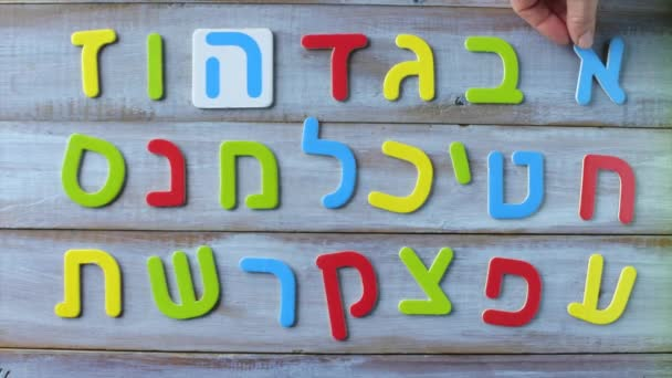 Hebrew alphabet letters and characters