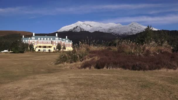 Mount Ruapehu and The Chateau in Tongariro National Park