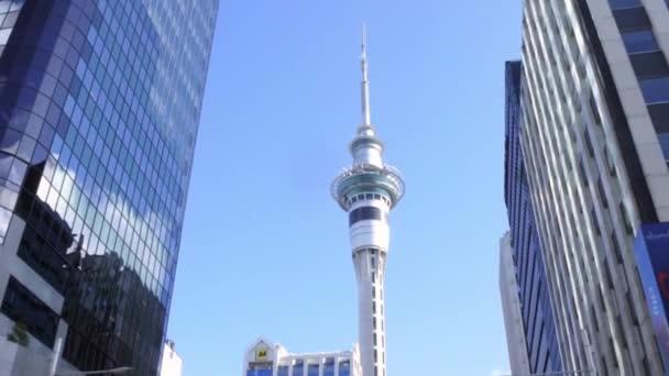 Traffic on Queen Street Auckland New Zealand