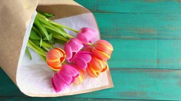 Tulipán květy s já tebe zpráva Poznámka