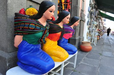 Mexican woman statues