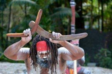 Portrait of one Yugambeh Aboriginal man
