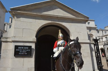 Mounted trooper of the Household Cavalry
