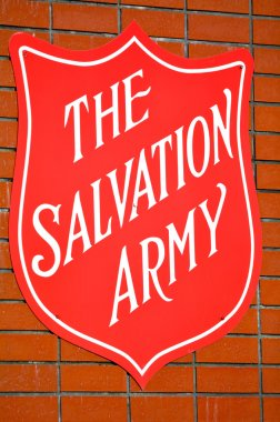 The Salvation Army Red Shield sign