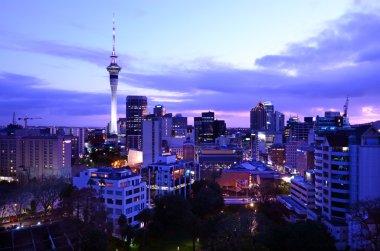 Auckland New Zealand Skyline at sunrise