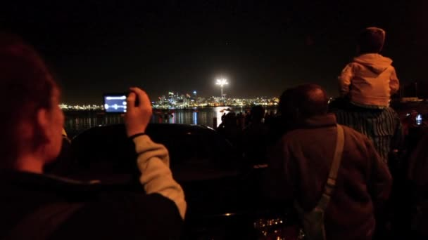 People watch the fireworks