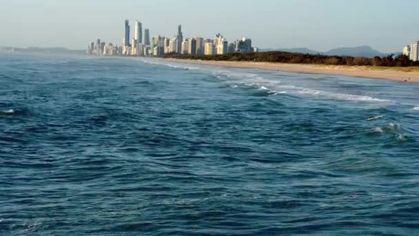 The Spit Beach with Surfers Paradise