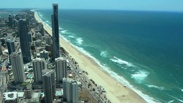 Aerial view of Surfers Paradise and Main Beach in Gold Coast Australia 02