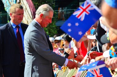 Prince of Wales visit to Auckland New Zealand