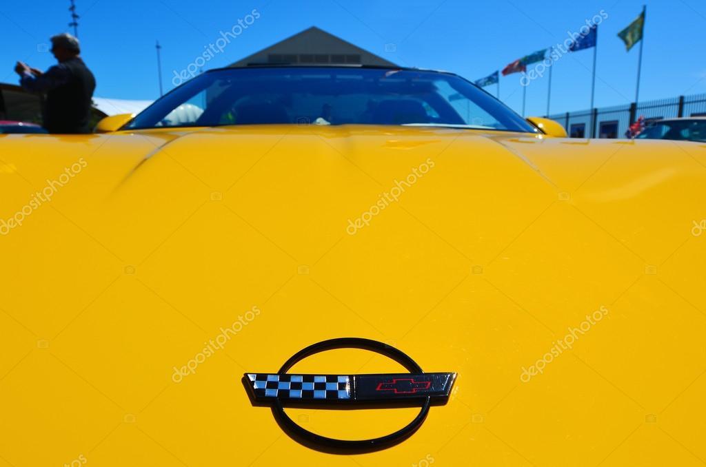 chevrolet corvette in einem öffentlichen us muscle cars v8 auto show