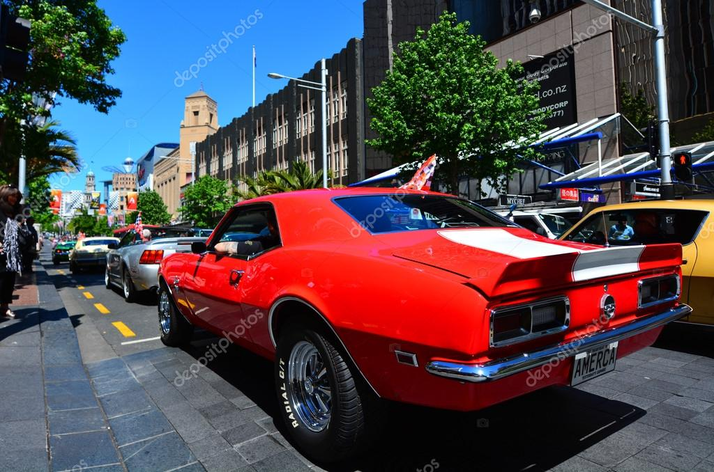 Chevrolet Camero SS engine in a Public US classic muscle car par ...