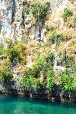 Bungy jump in Taupo New Zealand