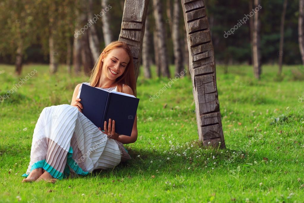 Woman having fun while reading