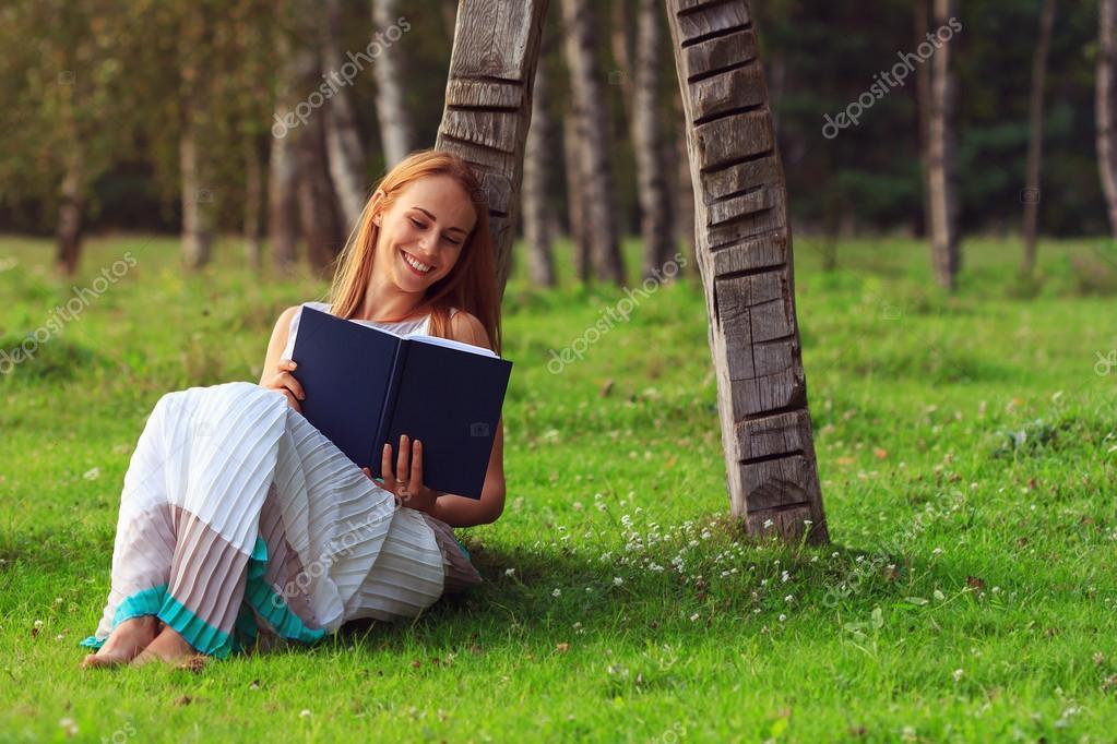 Woman having fun while reading