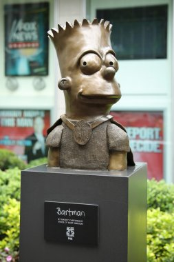 Statue of Bart Simpson in front of the Newscorp Building in New York.