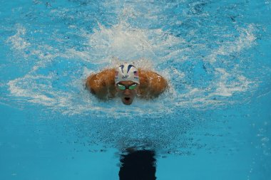 Olympic champion Michael Phelps of United States competes at the Men's 200m individual medley of the Rio 2016 Olympic Games