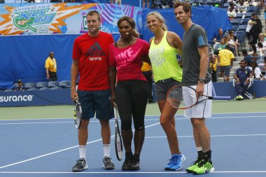 Jack Sock, Serena Williams, Victoria Azarenka and Andy Murray participated at Arthur Ashe Kids Day 2014