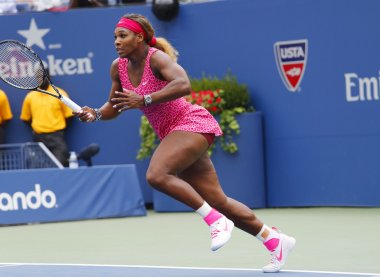 Grand Slam champion Serena Williams during third round match at US Open 2014 against Varvara Lepchenko