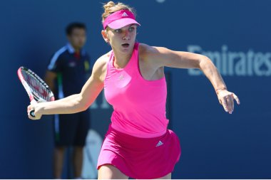 Professional tennis player Simona Halep during first round match at US Open 2014