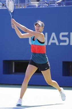 Four times Grand Slam champion Maria Sharapova practices for US Open 2014