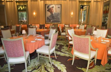 Forbes Travel Guide Four Star Sinatra Restaurant Interior at Encore Las Vegas Casino