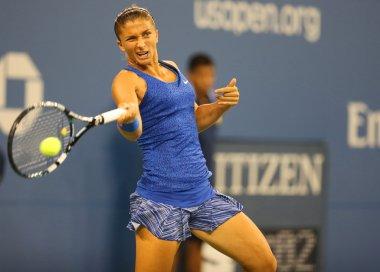 Professional tennis player Sara Errani from Italy during US Open 2014 round 4 match against Caroline Wozniacki