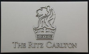 The Ritz-Carlton sign in Herzliya Marina