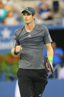 Grand Slam Champion Andy Murray during US Open 2014 quarterfinal match against Novak Djokovic