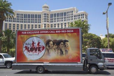 Billboard truck on Las Vegas Strip in Las Vegas