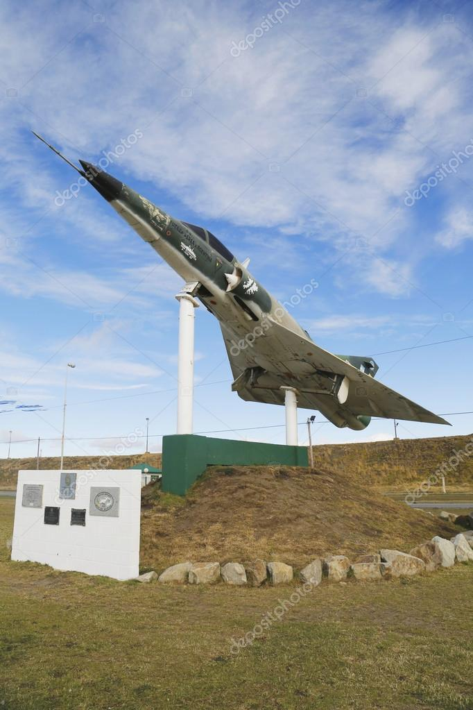 Argentine Naval Jet At The Monument To Fallen Soldiers Of Falklands