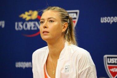 Five times Grand Slam Champion Maria Sharapova during press conference before US Open 2015