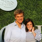 Dr Mehmet Oz aka Dr Oz and his wife Lisa Oz attend US Open 2015 tennis match between Serena and Venus Williams