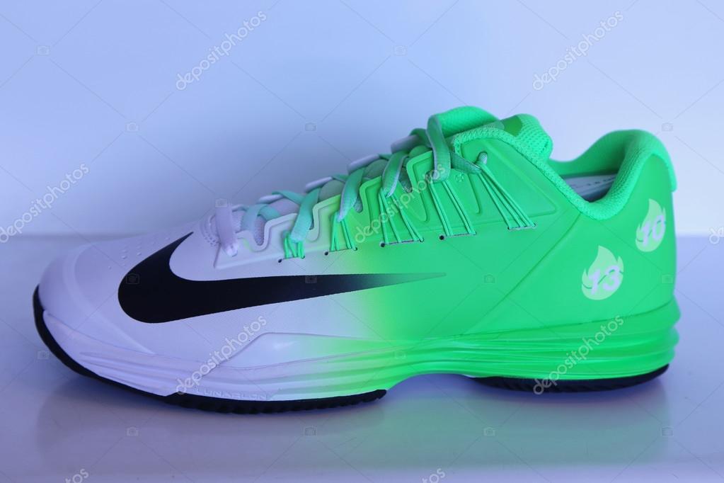 the best attitude 94a21 728bd Nike presented new tennis shoes NikeCourt Lunar Ballistec 1.5 Legend with  Rafael Nadal logo during US