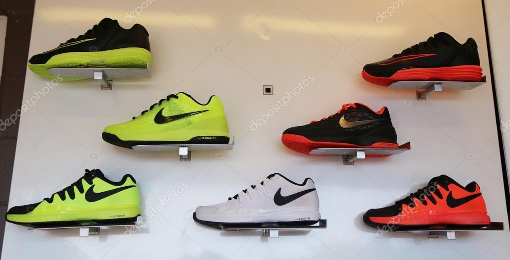 Nike Presented New Tennis Shoes Nikecourt Lunar Ballistec 1 5 Legend With Rafael Nadal Logo During Us Open 2015 Stock Editorial Photo C Zhukovsky 85969212
