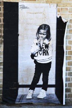 Stencil art at East Williamsburg in Brooklyn