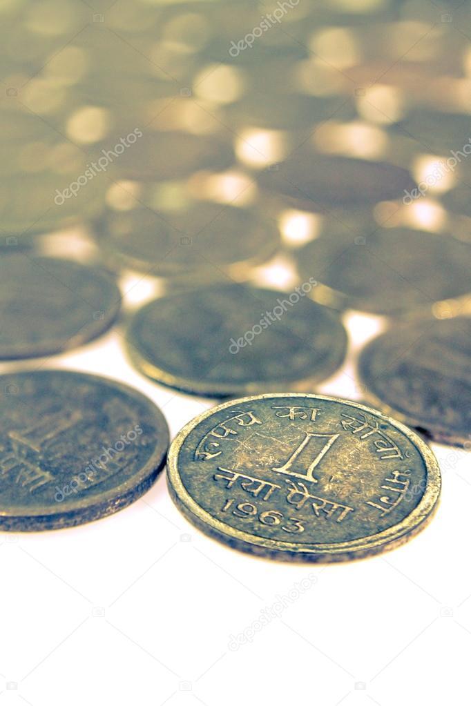 Alte Und Alte Indische Münzen Stockfoto Yogeshmore 64936987