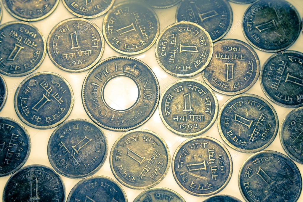 Alte Und Alte Indische Münzen Stockfoto Yogeshmore 64937025