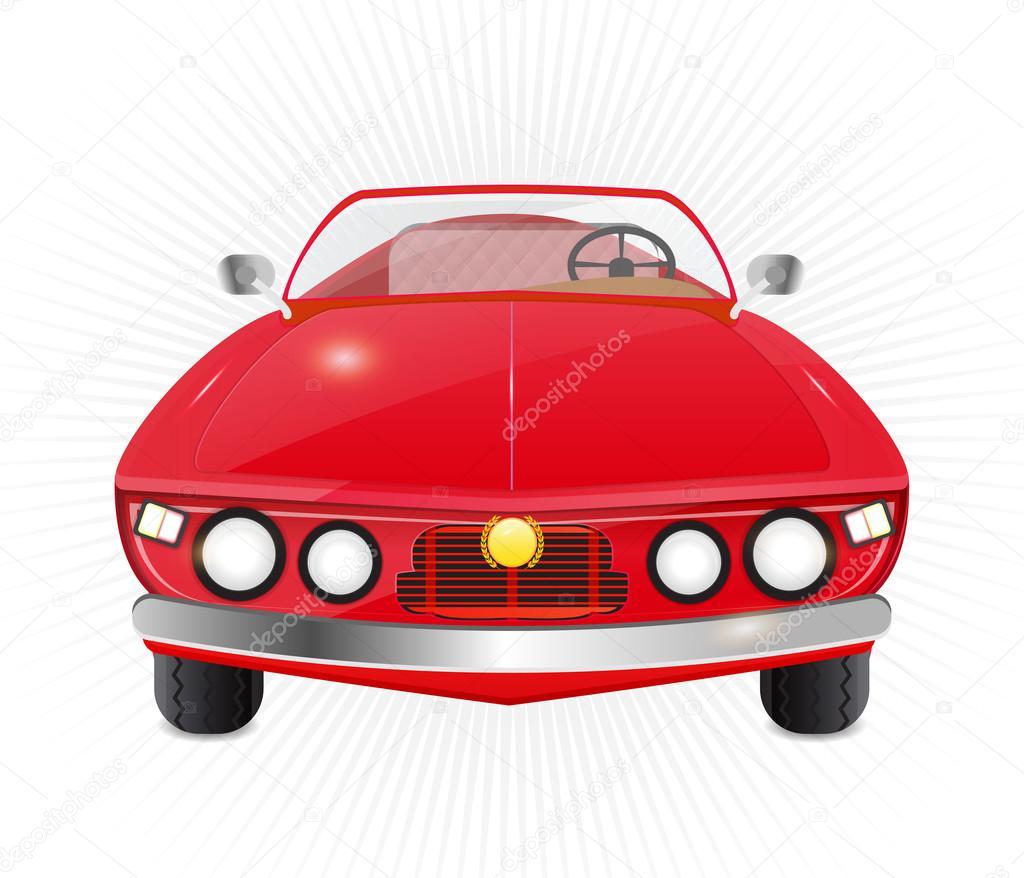 Kırmızı Araba üstü Açık Araba Stok Vektör Nopember3079 81468956