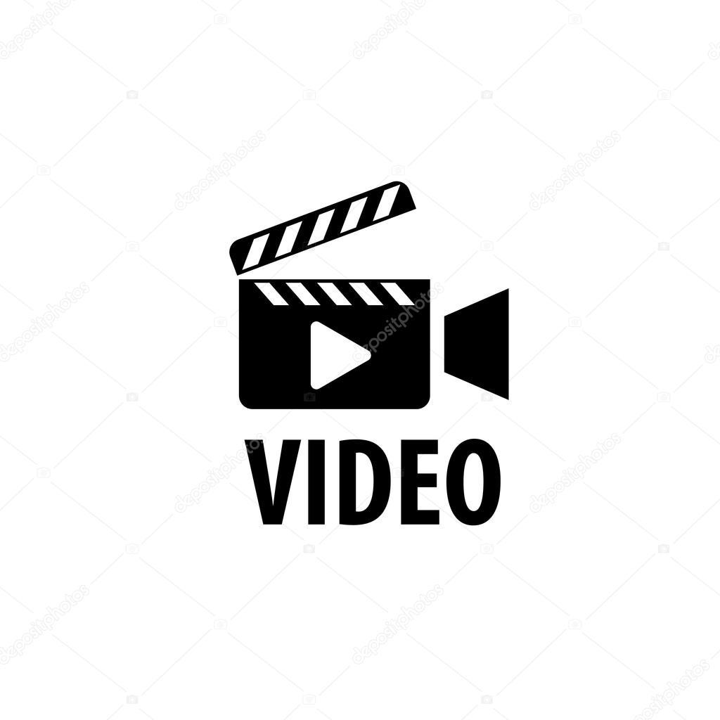 Vector logo videocámara — Archivo Imágenes Vectoriales