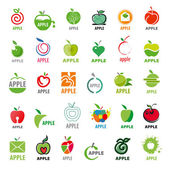 Photo Vector great collection logos apples