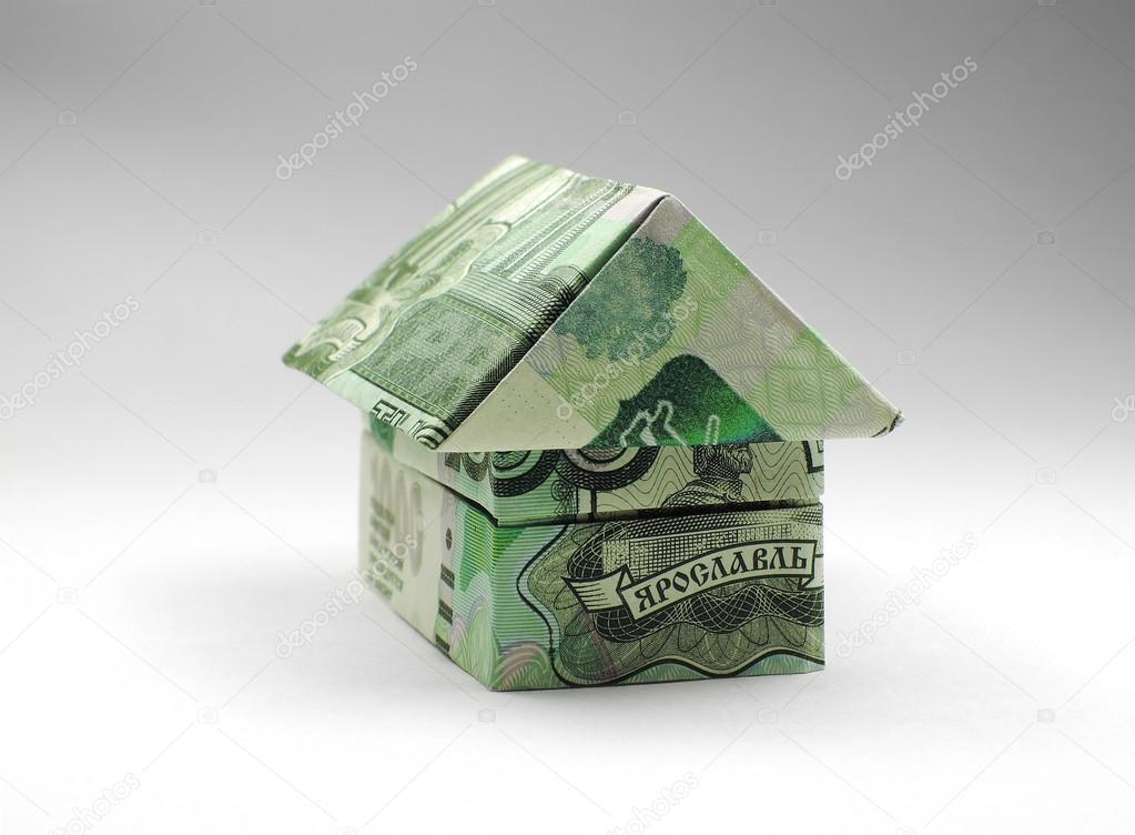 origami haus der tausend rubel hinweis stockfoto artbutenkov 52908849. Black Bedroom Furniture Sets. Home Design Ideas