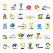 Fényképek legnagyobb gyűjteménye vector logók pénz, pénzügyi