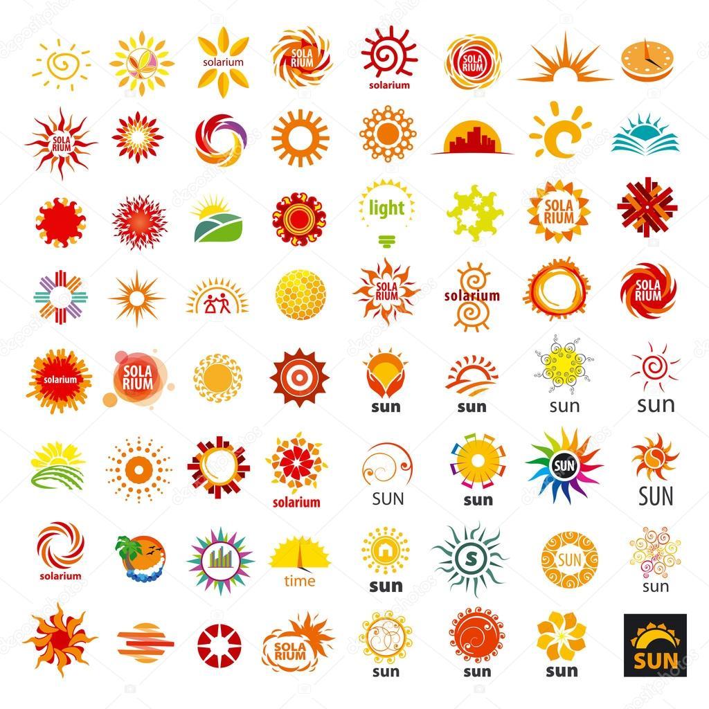 big set of vector logos sun